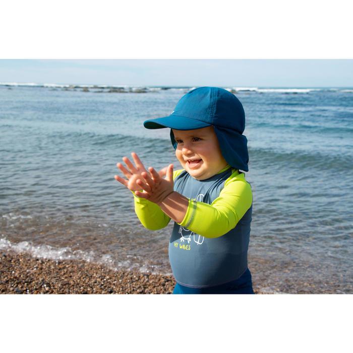 嬰幼兒抗紫外線游泳鴨舌帽-藍色