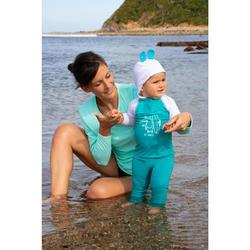 Leggings mit UV-Schutz Surf 100 Baby türkis