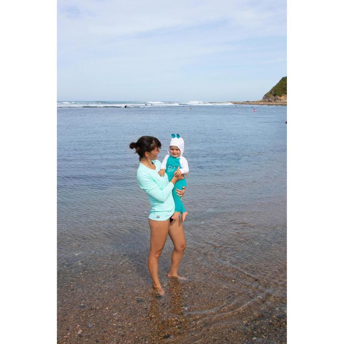 Leggings anti-UV surf 100 bebé azul turquesa