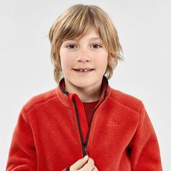 Forro polar de montaña niños 7-15 años MH150 rojo