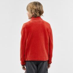 兒童款7至15歲健行刷毛外套MH150-紅色