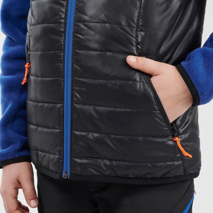 Gilet de randonnée enfant MH500 noir 7- 15 ans