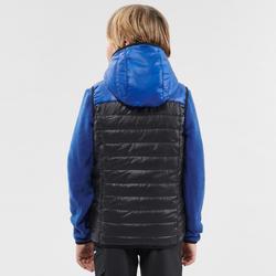 Gilet ouate de randonnée - MH500 noir - enfant 7- 15 ans