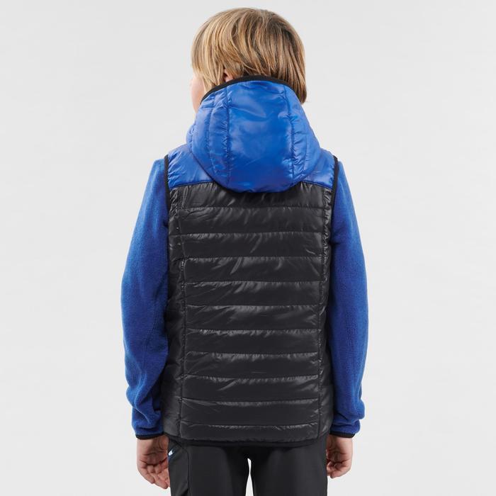 Wattierte Weste Wandern MH500 Kinder 123-172cm schwarz