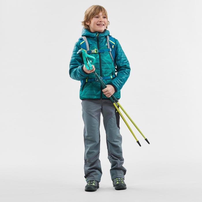Gewatteerde wandeljas voor kinderen MH500 groen/print 7-15 jaar