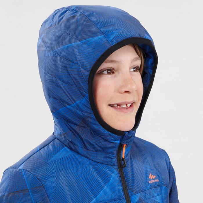 Kids' 7-15 Years Hiking Padded Jacket MH500 - Blue