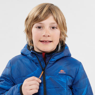 KIDS' PADDED HIKING JACKET MH500 7-15 YEARS - BLUE