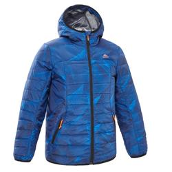 Kids' 7-15 Years Hiking Padded Jacket MH500 - Blue