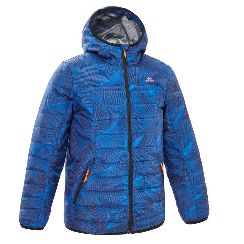 MH500 Kids' Padded Hiking Jacket - Blue