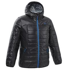 Kids' 7-15 Years Hiking Padded Jacket MH500 - Black