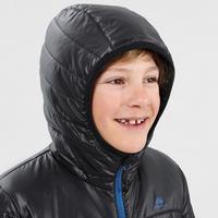 Veste rembourrée de randonnée enfant MH500 noir 7-15 ans