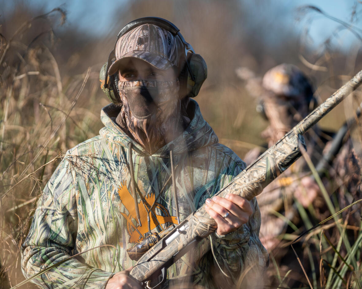 Sweat à capuche chaud pour le chasseur de canard