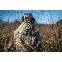 Sudadera caza capucha 500 camuflaje marisma