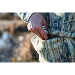 Sweat chasse capuche 500 camouflage marais