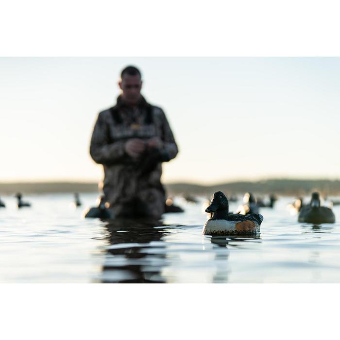 Jagdfleecejacke 500 warm Tarnung Camouflage Schilfmuster