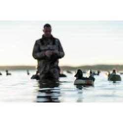 Polaire chasse chaude 500 camouflage marais