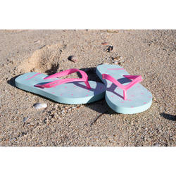 Chanclas De Playa Surf Olaian TO 120 Niña Verde Rosa