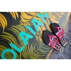 Chanclas De Playa Surf Olaian TO 120 Mujer Negro Coral