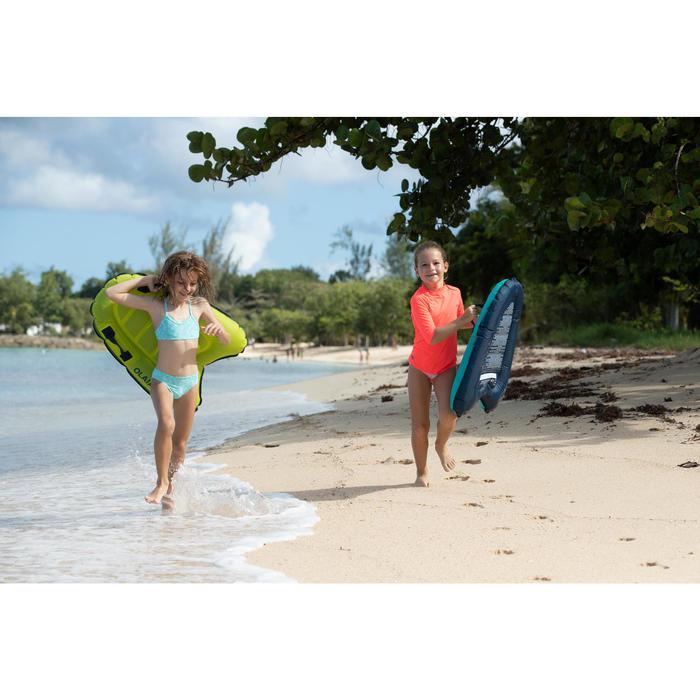 Meisjesbikini voor surfen topje zonder sluiting Boni Palmy blauw