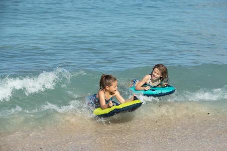 Boni Jun Girls' Two-Piece Surfing Crop Top Swimsuit - Purple