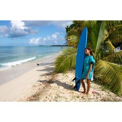 Surf-Poncho Kinder 125–150cm Zebra grün