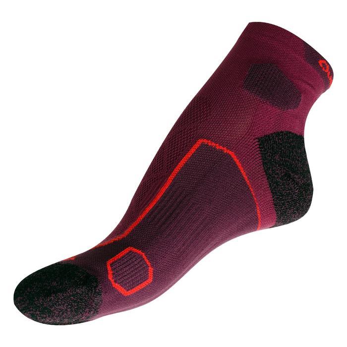 中筒登山健行襪。中筒襪(兩雙入)Forclaz MH 500-紫色