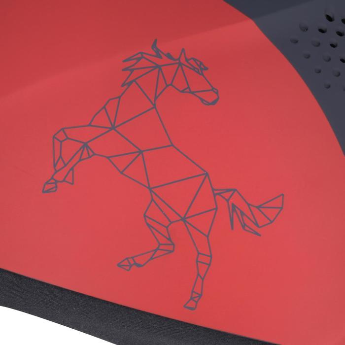 Casque équitation SAFETY CABRIOLE rouge et - 167127