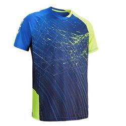男款T恤560-藍黃配色