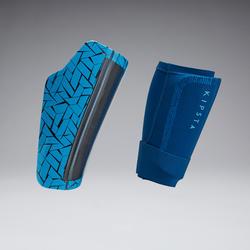 Scheenbeschermers voor voetbal volwassenen 540 TRAXIUM blauw