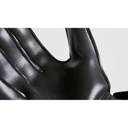 兒童款足球守門員手套F100-黑色/黃色