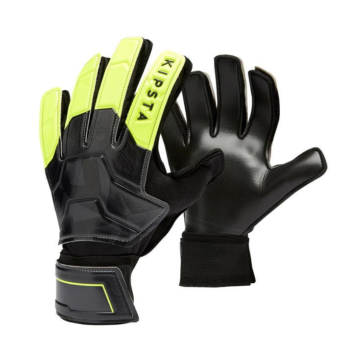 Adult Football Goalkeeper Gloves F100 Resist - Black/Yellow