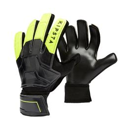 Torwarthandschuhe F100 glatt Erwachsene schwarz/gelb