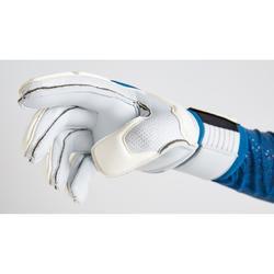 Gant de gardien de football adulte F500 blanc bleu