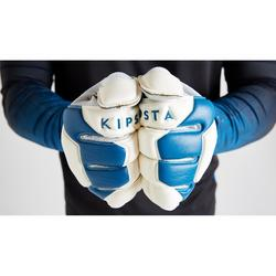 Keepershandschoenen voor volwassenen voetbal F500 wit/blauw