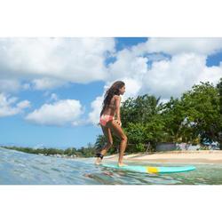 Maillot de bain 2 pièces de surf forme TRIANGLE TALOO VALOU Rose corail