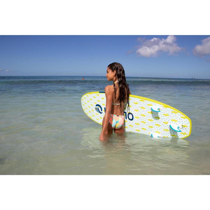 Bikini met triangeltop voor surfen Taloo Lilou blauw