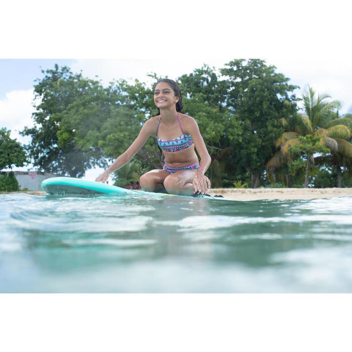 Maillot de bain 2 pièces fille de surf bandeau LILOO SAMOA TURQUOISE