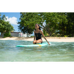 Meisjesbadpak voor surfen Hanalei Wave It Easy zwart