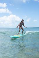 Taloo Maoria Girls' Two-Piece Surfing Triangle Bikini Swimsuit - Purple
