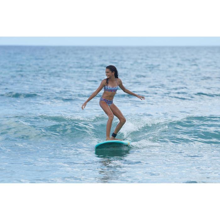 Meisjesbikini met bandeautop voor surfen Liloo Samoa turquoise
