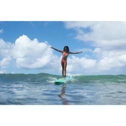 Bikini met triangeltop voor surfen Taloo Valou koraalroze