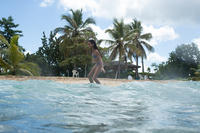 Maillot de bain 2 pièces de surf forme TRIANGLE TALOO MAORIA Violet