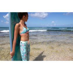 Legging anti UV surf 500 enfant vert/menthe
