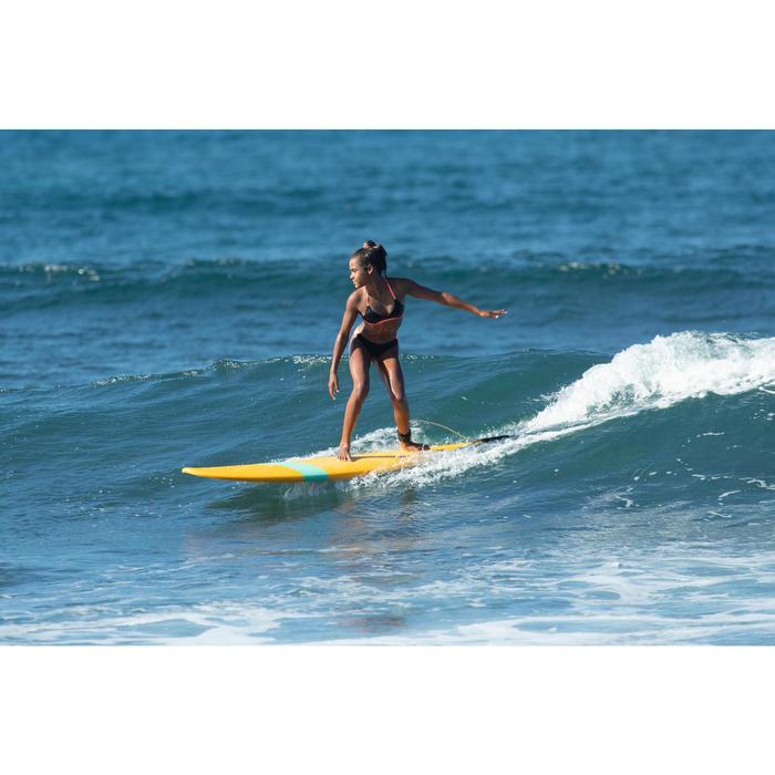 Maillot de bain de surf 2 pièces fille avec PAD BETTY CORAIL ET NOIR