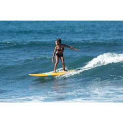 Meisjesbikini met pads voor surfen Betty koraal en zwart