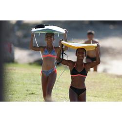 Meisjesbikini met pads Betty koraal en zwart