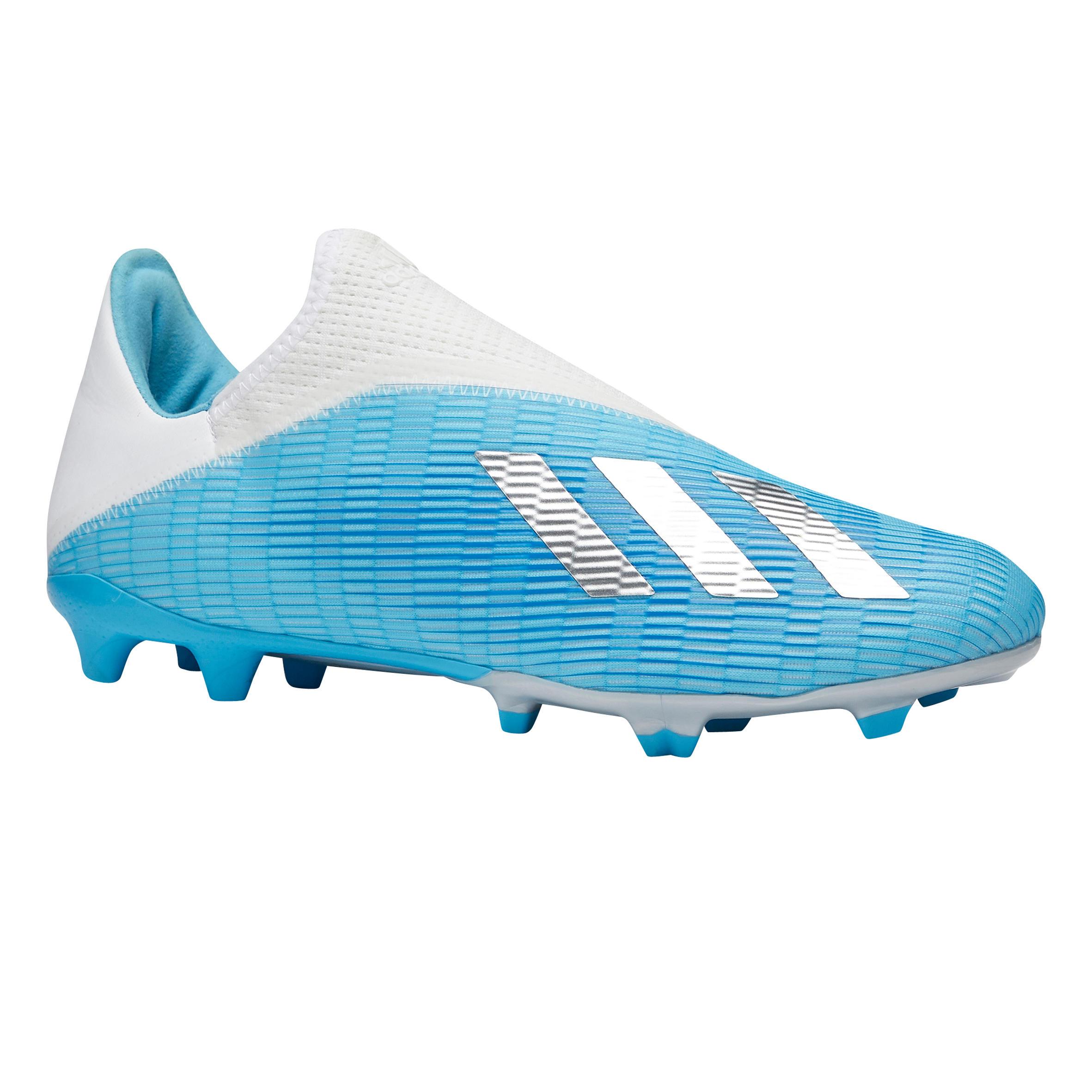 Chaussure de football enfant Adidas X.3 Laceless FG bleu ADIDAS ...