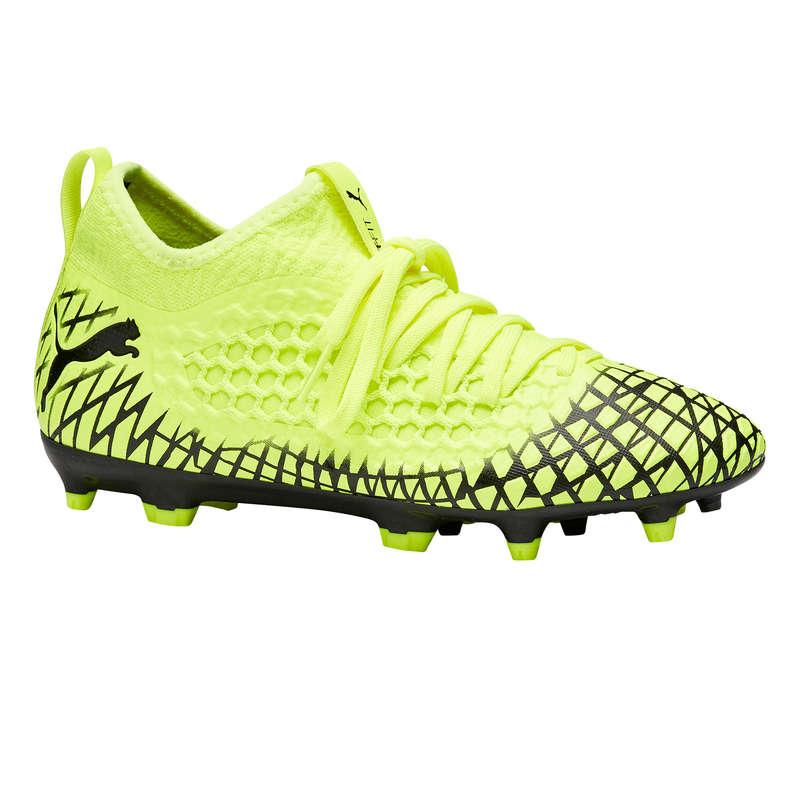 Firm ground Football - Futur 3 FG Kids' - Yellow PUMA - Football Boots