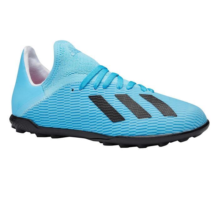 Fußballschuhe Multinocken X 19.3 HG Kinder blau