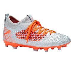 Botas de Fútbol Puma Future 4 FG niños gris y naranja